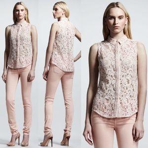 Victoria Beckham Collection 50s Blush Lace Blouse